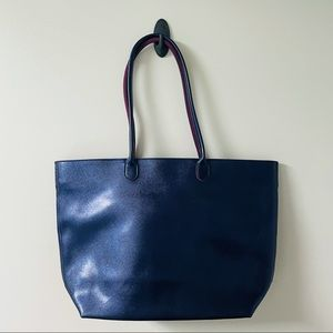 Metallic Purple Zippered Tote
